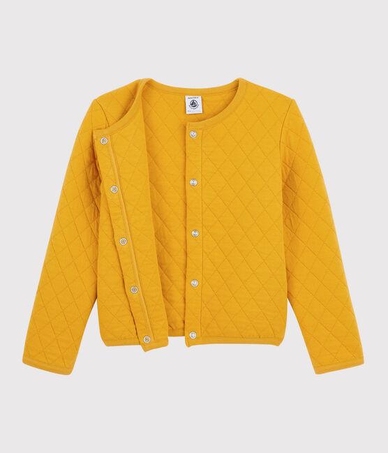 Schlauch-Cardigan für Mädchen gelb Boudor