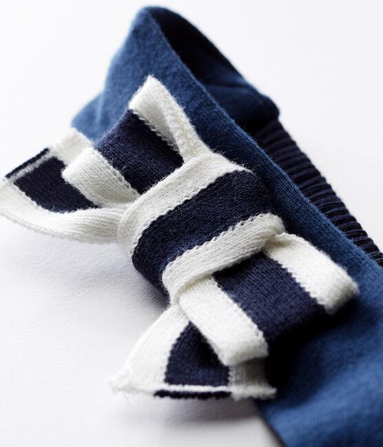 Baby-haarband mädchen blau Smoking / weiss Marshmallow