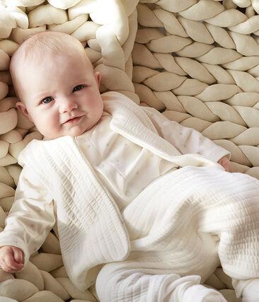 3-teiliges Baby-Set aus Doppeljersey weiss Marshmallow