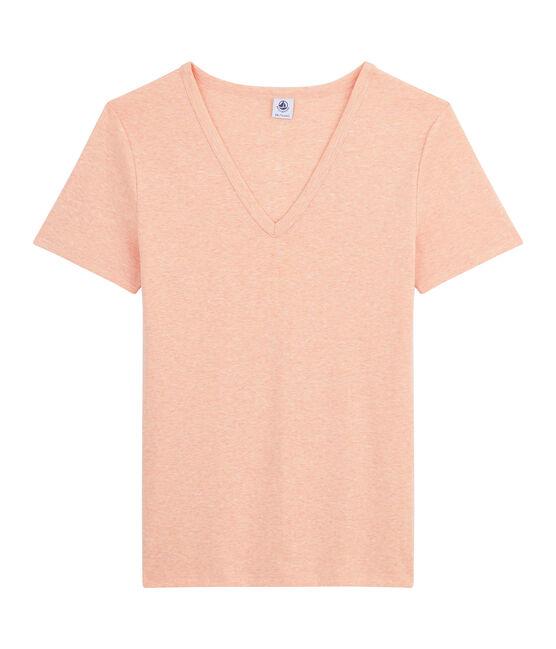 Ikonisches Damen-T-Shirt rosa Aster Chine