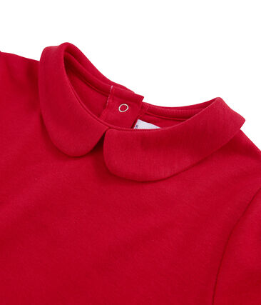 T-Shirt für Mädchen mit Bubikragen rot Froufrou