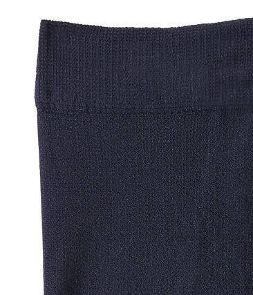 Mikrofaser-Kinderstrumpfhose für Mädchen blau Smoking