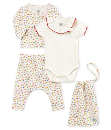 4-Teiliges gemustertes baby-set für mädchen