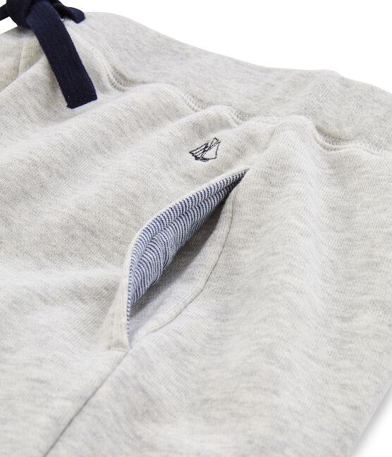 Molton-Hose für Jungen grau Gris
