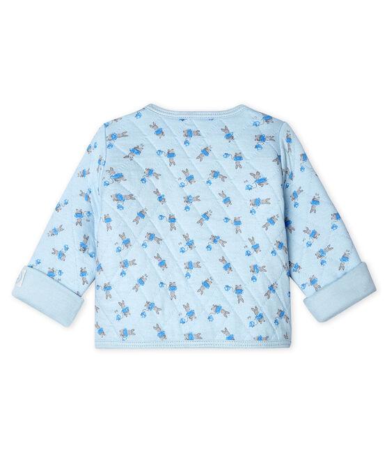 Baby-Cardigan aus gestepptem Doppeljersey blau Fraicheur / weiss Multico