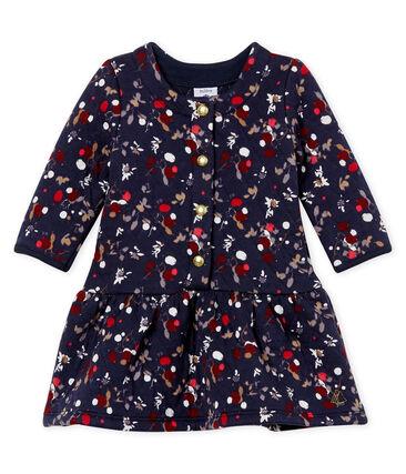 Bedrucktes Baby MädchenKleid blau Smoking / weiss Multico Cn