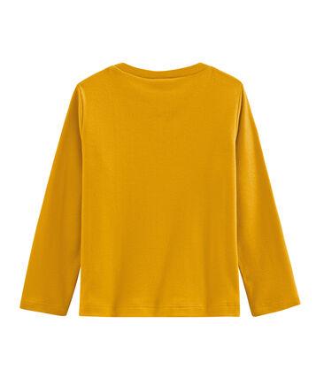 Langärmeliges Kinder-T-Shirt Jungen gelb Boudor