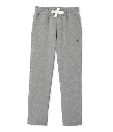 Jungen-Hose aus Molton grau Subway Chine