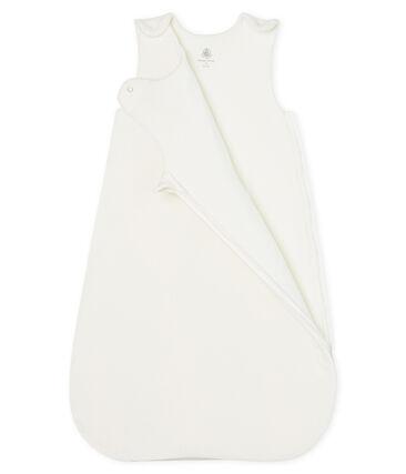 Babyschlafsack aus Samt weiss Marshmallow