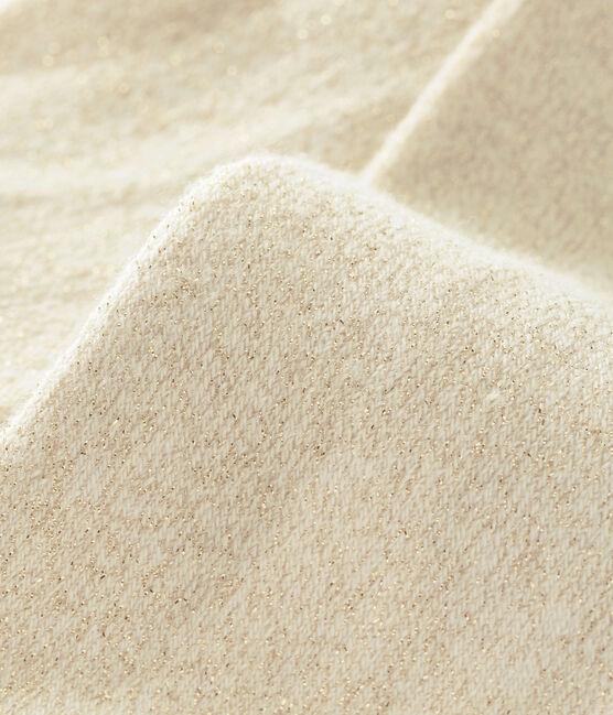 Glänzende Baby-Strumpfhose für Mädchen weiss Marshmallow