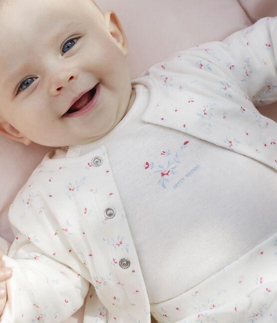 3-teiliges Baby-Set aus Doppeljersey, Unisex weiss Marshmallow / weiss Multico