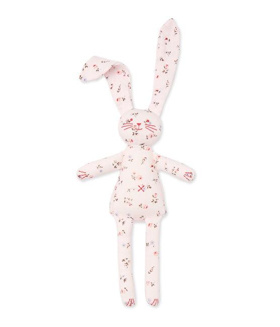 Doudou lapin bébé mixte imprimé rosa Vienne / weiss Multico