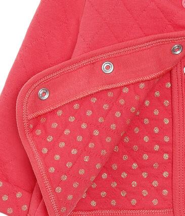 Baby-Cardigan aus gestepptem Doppeljersey für Mädchen rot Signal