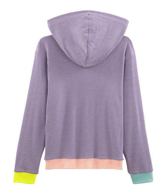 Kapuzen-Sweatshirt Damen violett Real / weiss Marshmallow