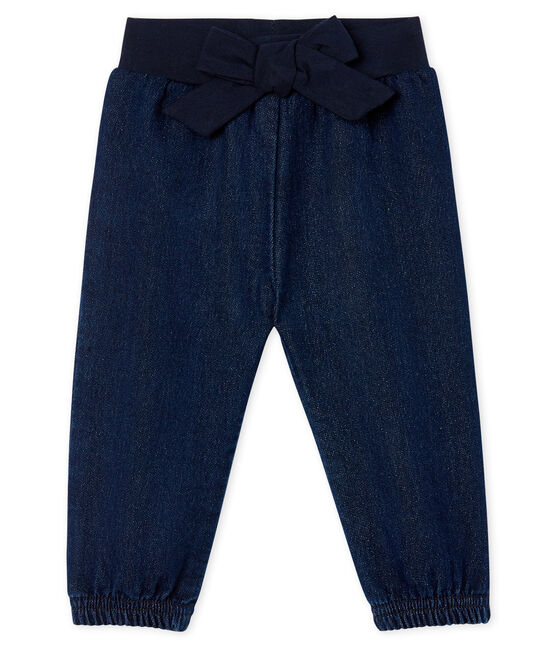 Babyhose aus Strick im Denimlook für Mädchen blau Jean