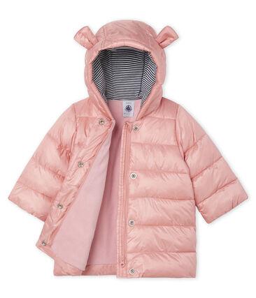 Baby-Jacke aus satiniertem Polyamid rosa Fleur