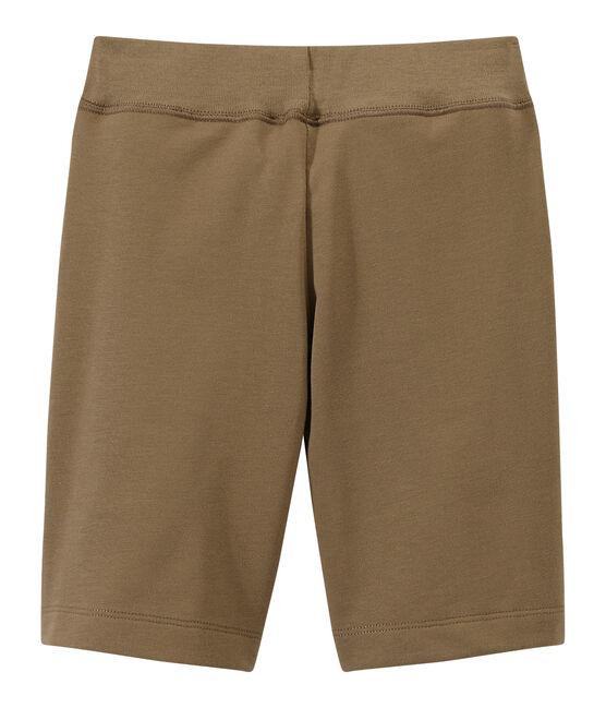 Jungen-Bermudashorts aus schwerem Jersey braun Shitake