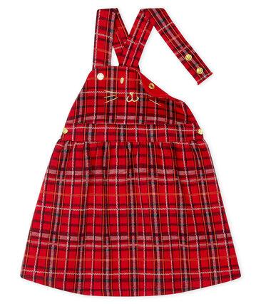 Kariertes Baby-Latzkleid für Mädchen