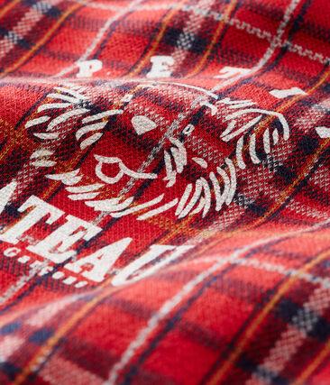 Kariertes Baby-Strick-Sweatshirt für Jungen rot Terkuit / weiss Multico