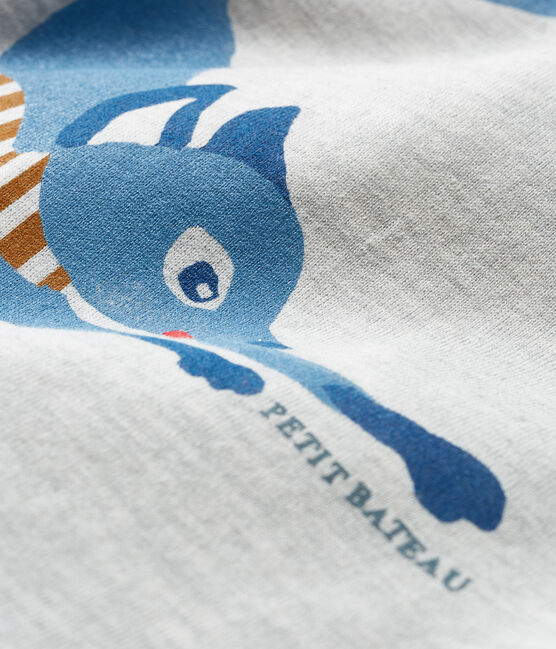 Langärmeliges Baby-T-Shirt für Jungen grau Beluga