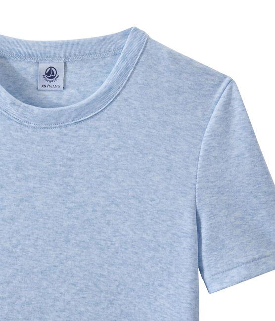 Damen-T-Shirt aus Original-Rippstrick blau Cumulus Chine