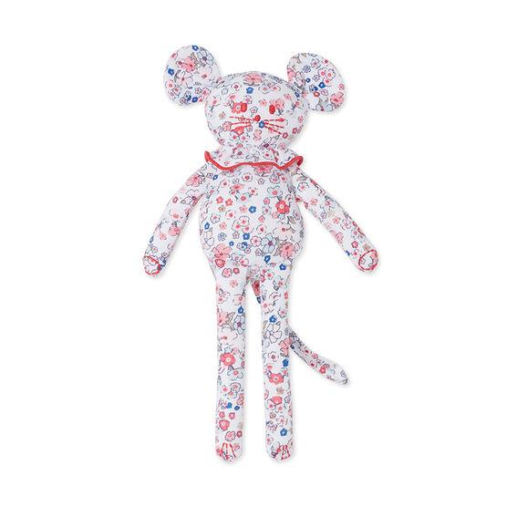 Doudou bébé souris imprimé weiss Ecume / rosa Gretel