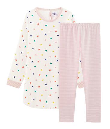 Langärmliges Nachthemd aus Molton für Mädchen
