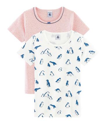 2er-Set kurzärmlige T-Shirts für kleine Mädchen