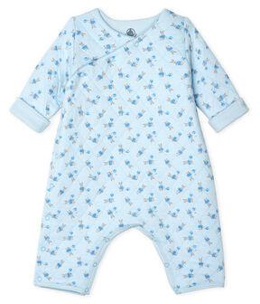 Langer Unisex-Baby-Overall aus Doppeljersey blau Fraicheur / weiss Multico