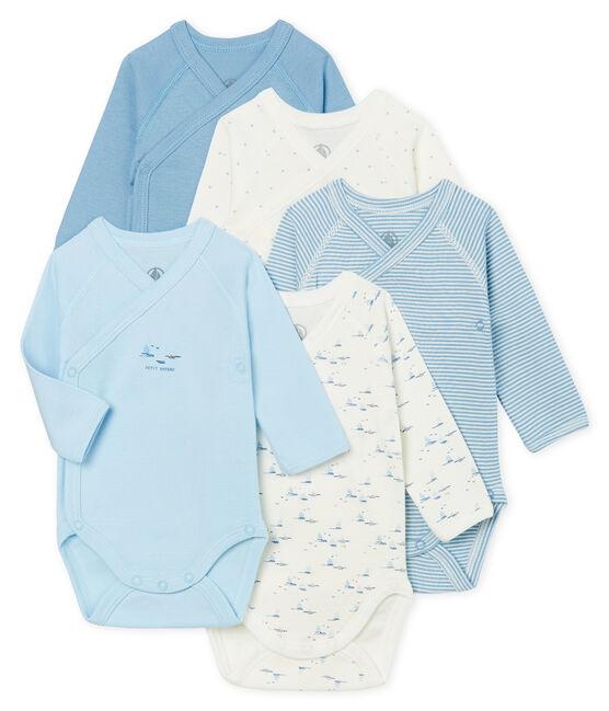 Set mit fünf langärmligen Bodys für Neugeborene lot .