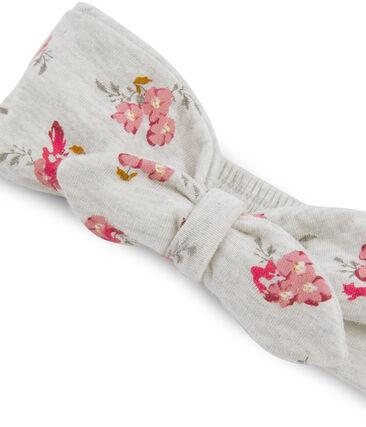Baby-Haarband für Mädchen grau Beluga / weiss Multico