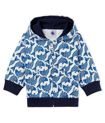 Gemustertes baby-kapuzenSweatshirt aus jersey mit reissverschluss jungen