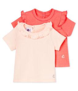 2er-Set kurzärmelige baby-t-shirts mädchen