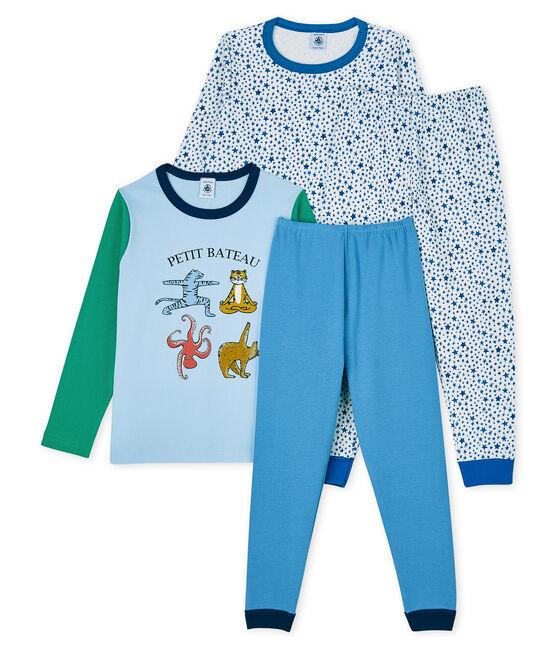 Lot de 2 pyjamas petit garçon en côte et tubique lot .