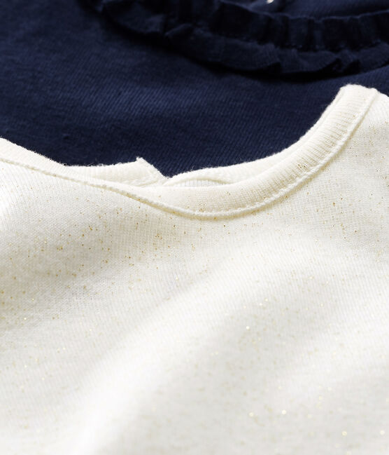 2er-Set langärmelige Baby-T-Shirts für Mädchen lot .