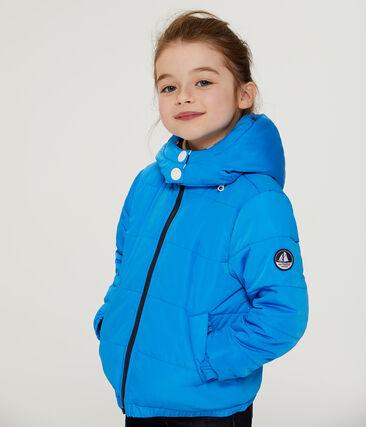 Wattierte Kinder-Jacke blau Wave