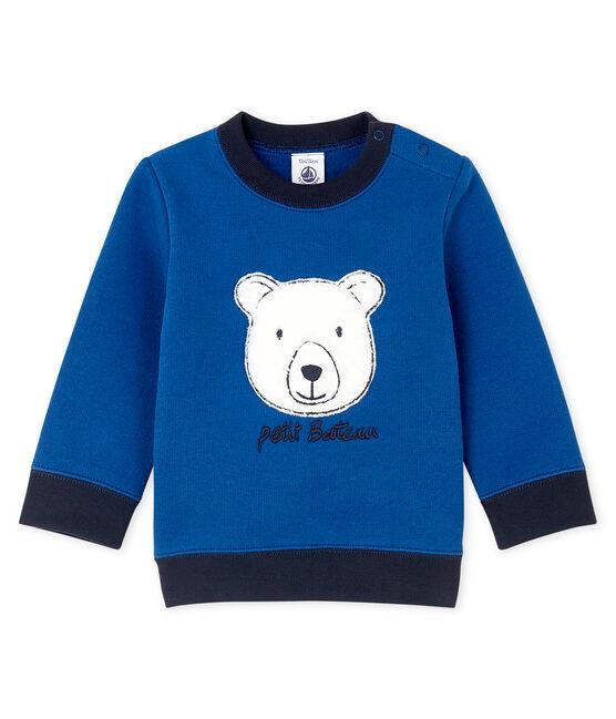 Baby-Sweatshirt aus Molton für Jungen blau Limoges