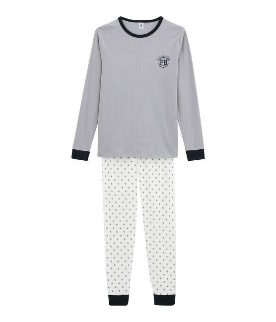Jungen Schlafanzug weiss Marshmallow / weiss Multico