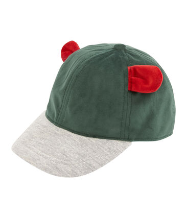 Mädchen-Schirmmütze grün Sousbois