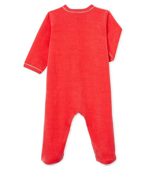 Baby-Strampler aus Nicki für Mädchen rot Signal