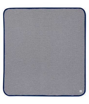 Anti-Strahlung Decke blau Smoking / weiss Ecume