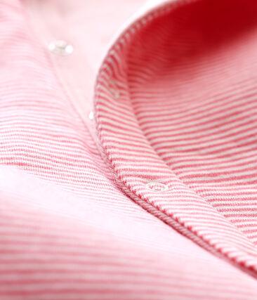 Baby Jungen Strampler ohne Fuß aus gedoppeltem Jersey rosa Cheek / weiss Marshmallow