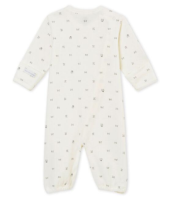 Unisex Baby Overall aus gedoppeltem Jersey mit Print weiss Marshmallow / schwarz Noir