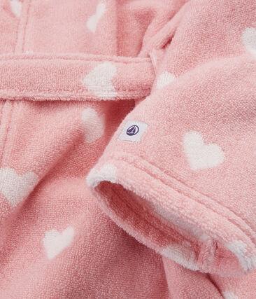 Frottee-Bademantel für kleine Mädchen