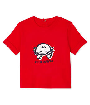 Kurzärmeliges Baby-T-Shirt für Jungen rot Peps