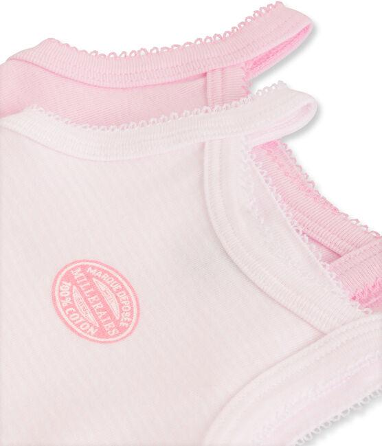 2-er Pack Baby-Träger-Bodys für Mädchen uni/geringelt lot .