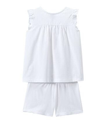 Kurzpyjama aus dünner Baumwolle für kleine Mädchen