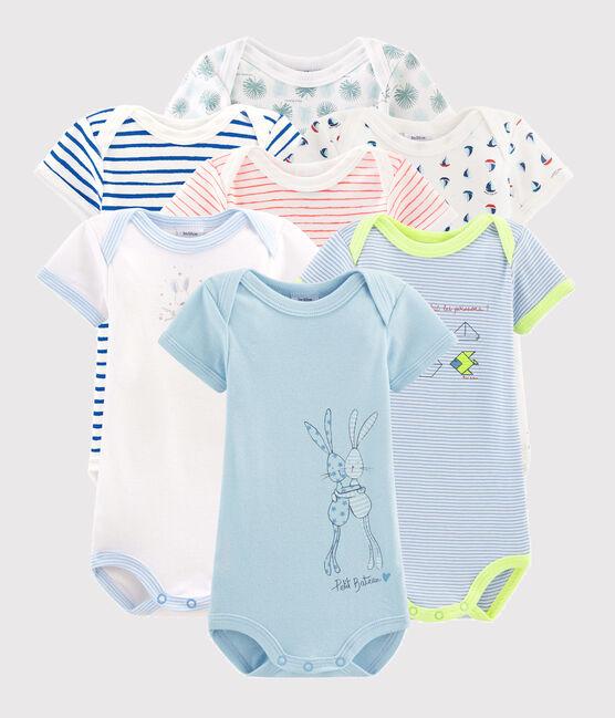 Überraschungsbeutel mit sieben kurzärmeligen Bodys für Baby Jungen lot .