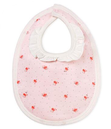 Gemustertes baby-lätzchen mädchen rosa Vienne / weiss Multico
