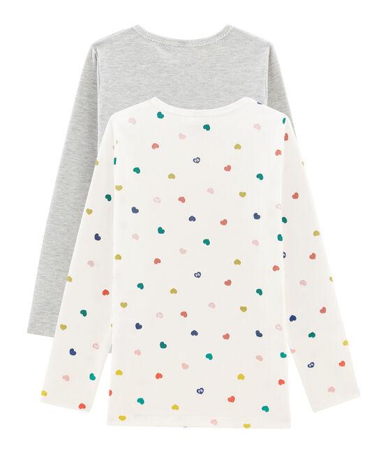 2er-Set langärmlige T-Shirts für kleine Mädchen lot .